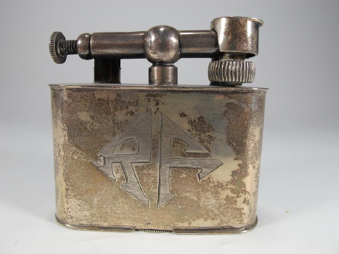 Antique Cartier Masonic sterling & enamel lighter - 3