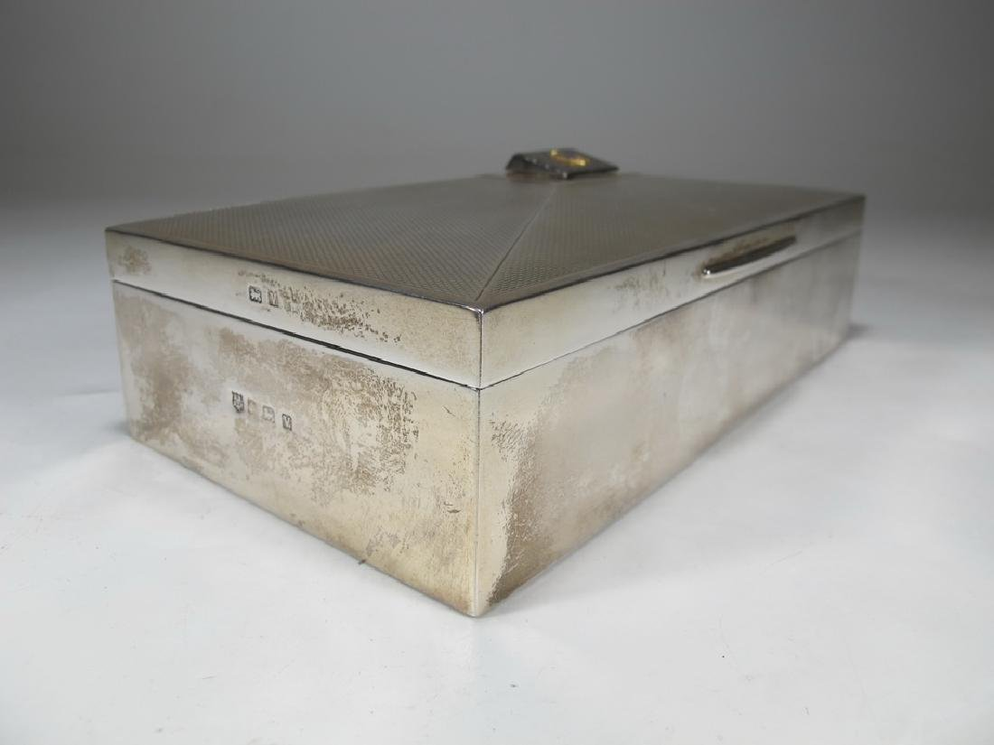 Antique English Masonic silver cigarette box - 4