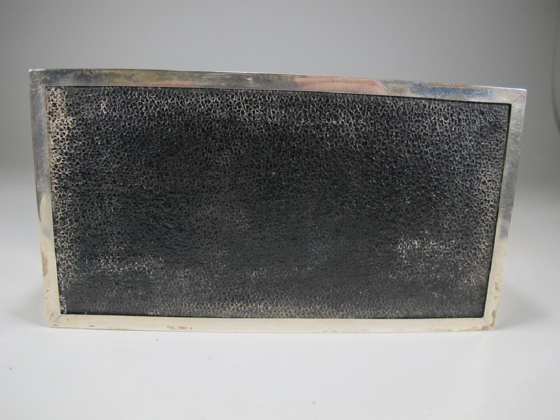 Antique English Masonic silver cigarette box - 7