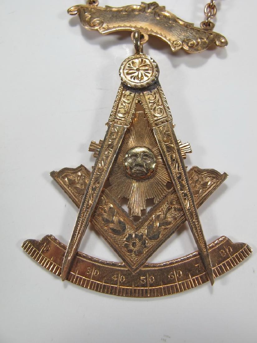 Antique Masonic 9 k gold Past Master jewel - 3
