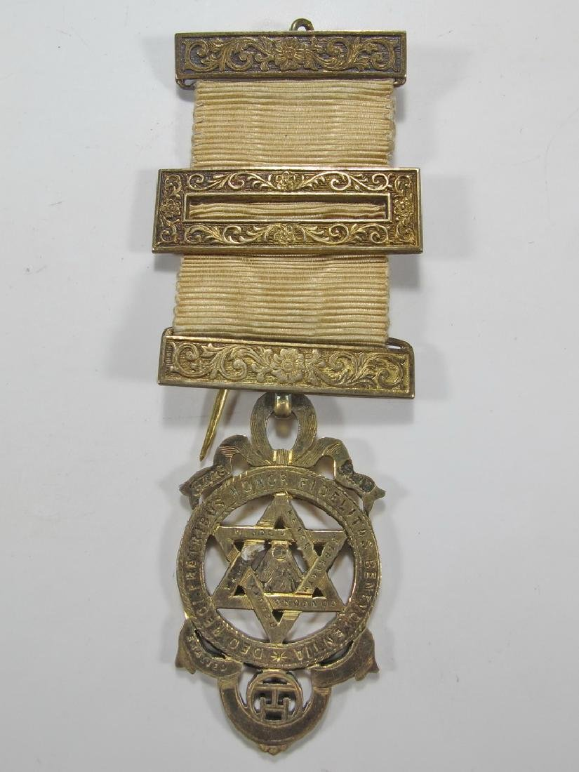 Antique Masonic stamped G. Kennings & son gilt silver
