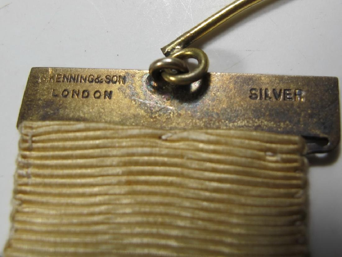 Antique Masonic stamped G. Kennings & son gilt silver - 5