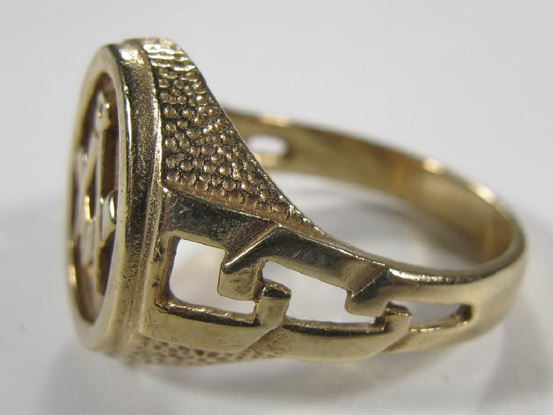 Vintage Masonic 9k gold men's ring in a box - 4