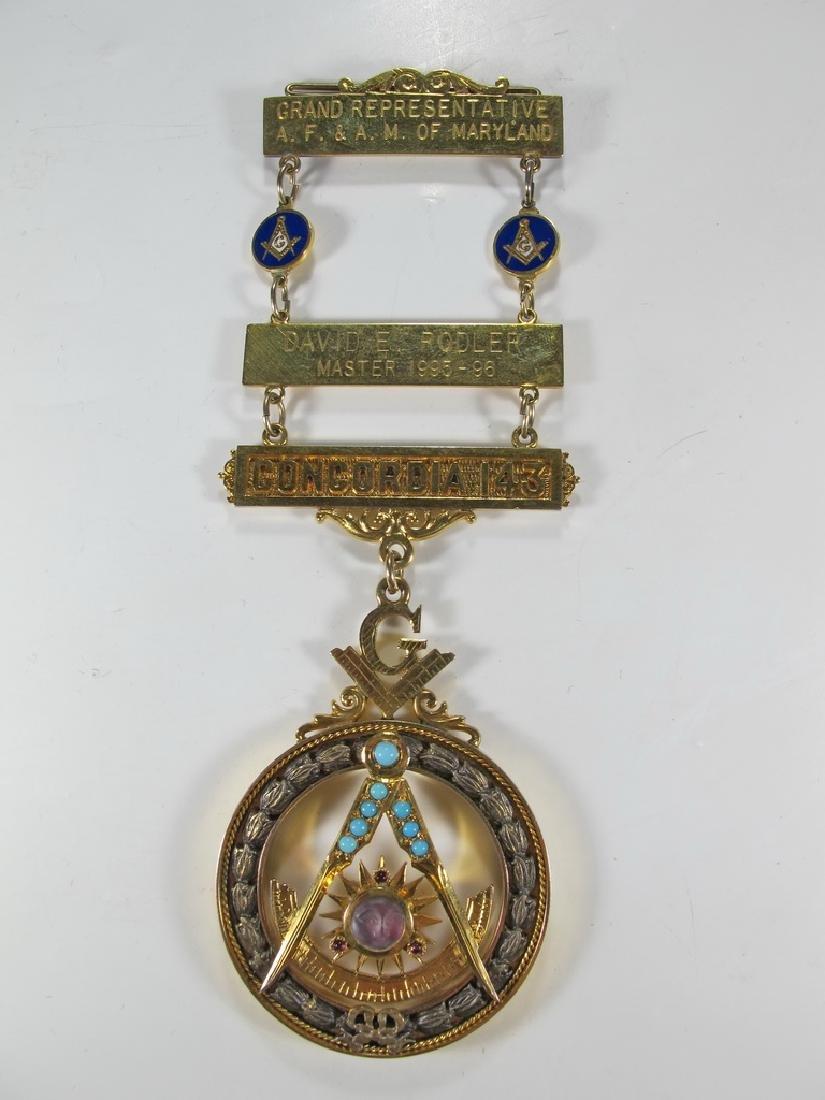 Masonic 10K gold filled Past Master jewel