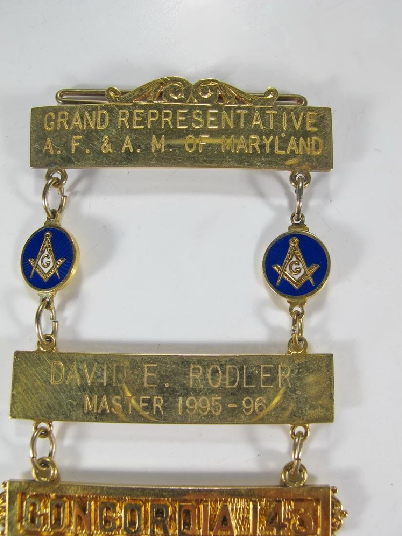 Masonic 10K gold filled Past Master jewel - 2