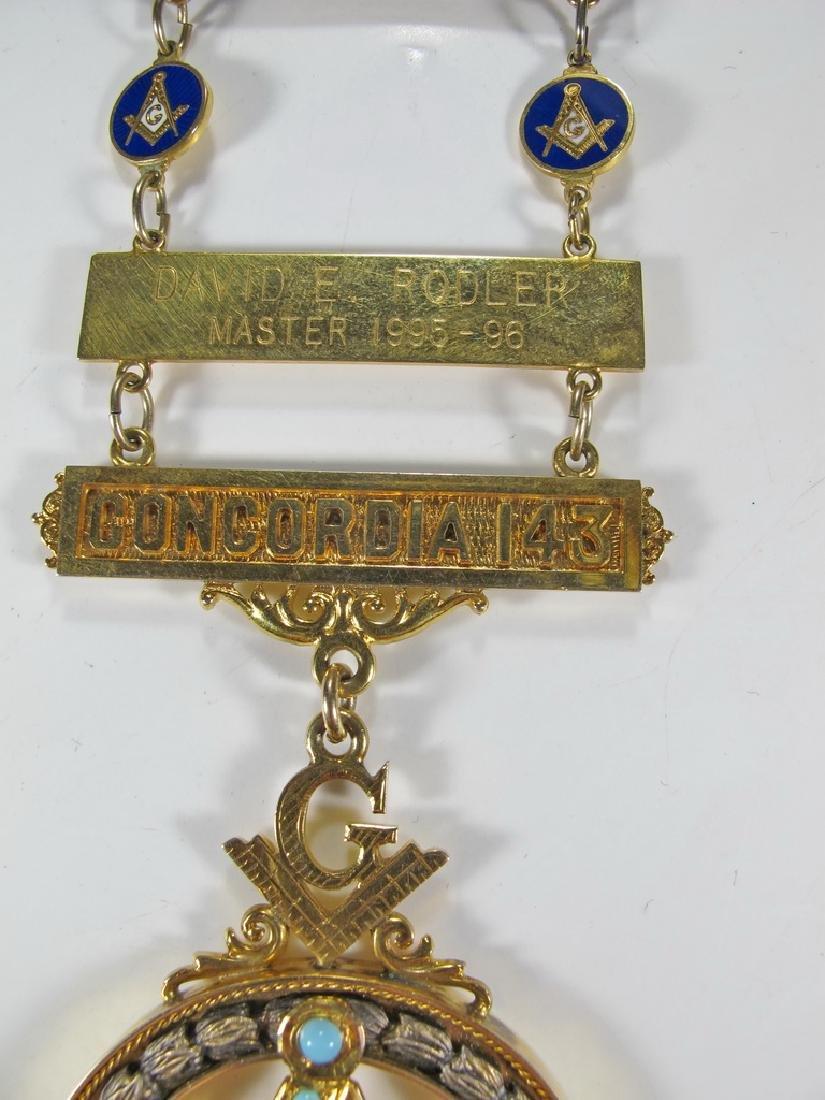Masonic 10K gold filled Past Master jewel - 3