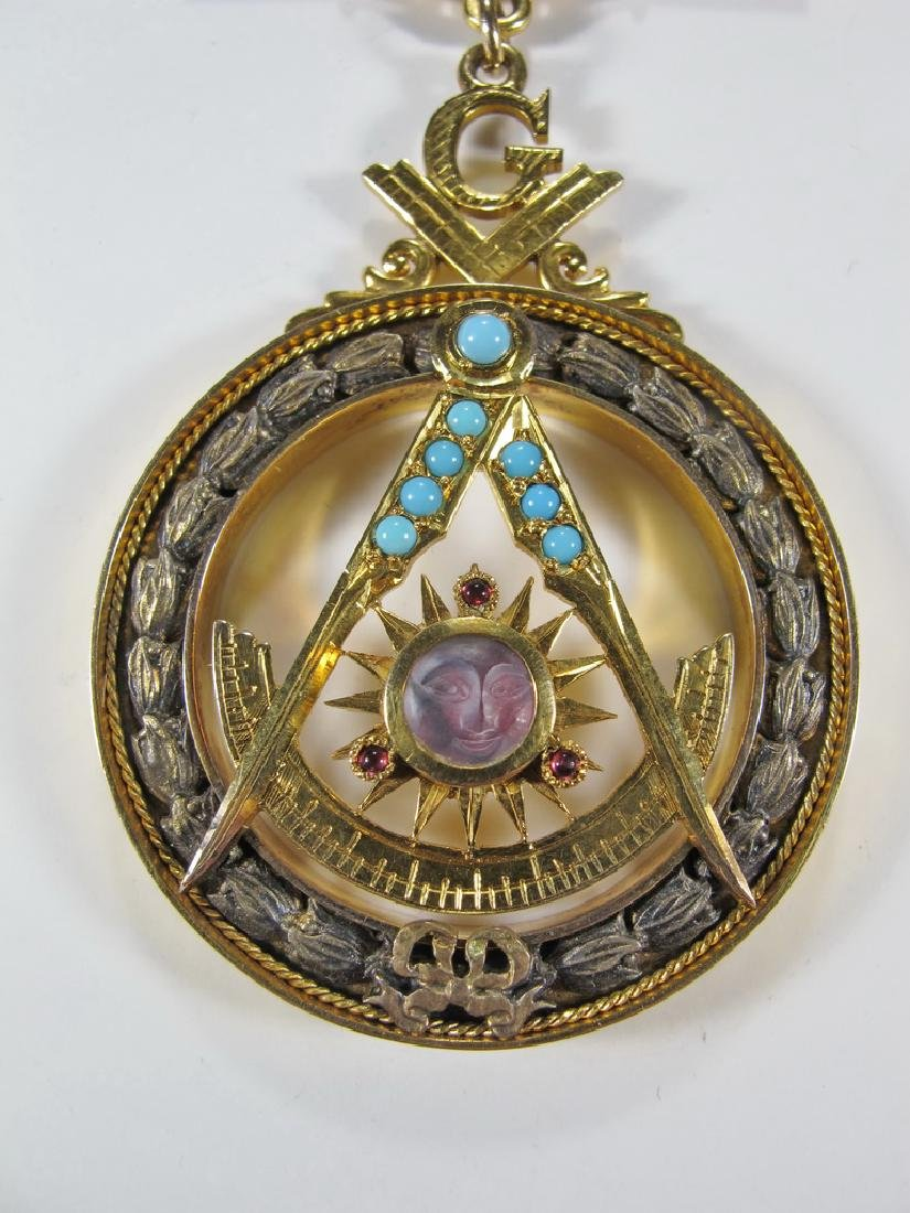 Masonic 10K gold filled Past Master jewel - 4
