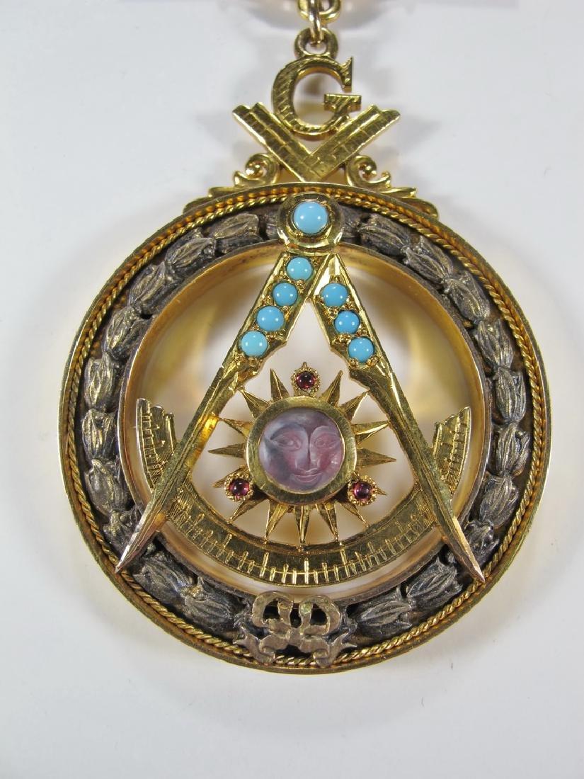 Masonic 10K gold filled Past Master jewel - 4