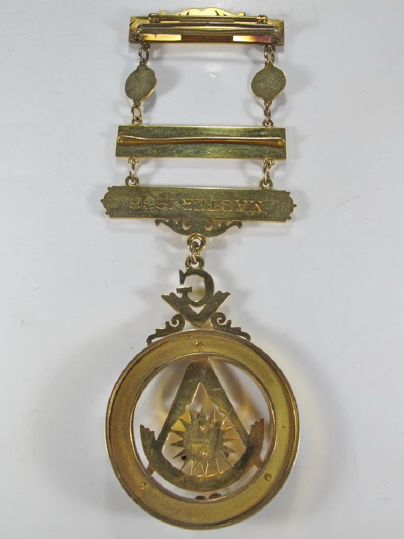 Masonic 10K gold filled Past Master jewel - 5