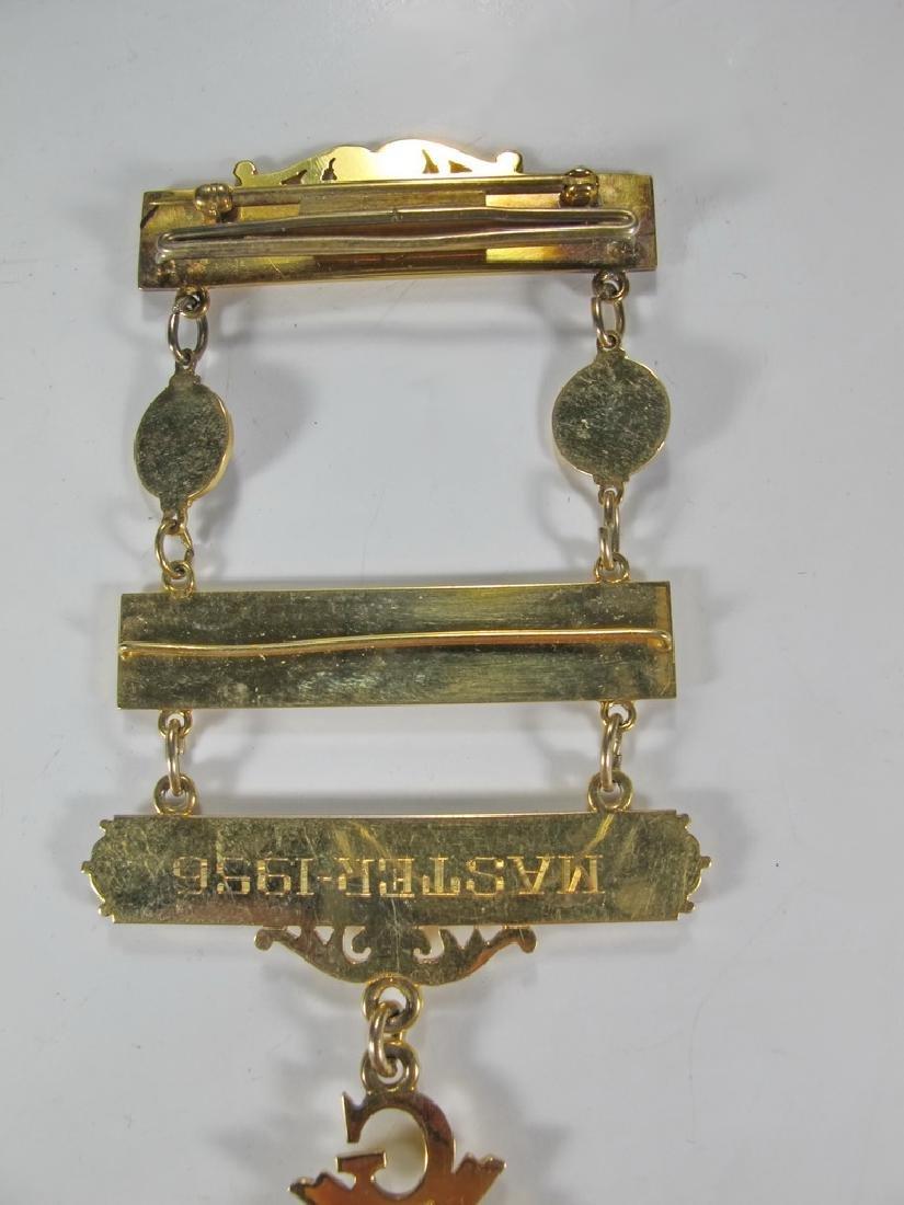 Masonic 10K gold filled Past Master jewel - 6