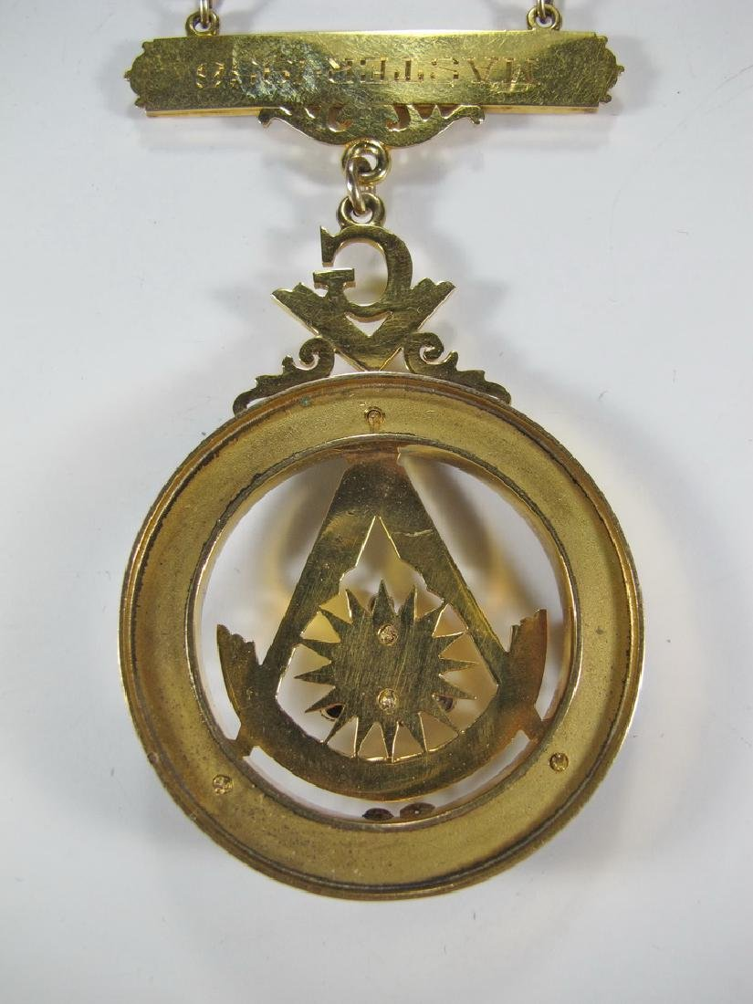 Masonic 10K gold filled Past Master jewel - 7