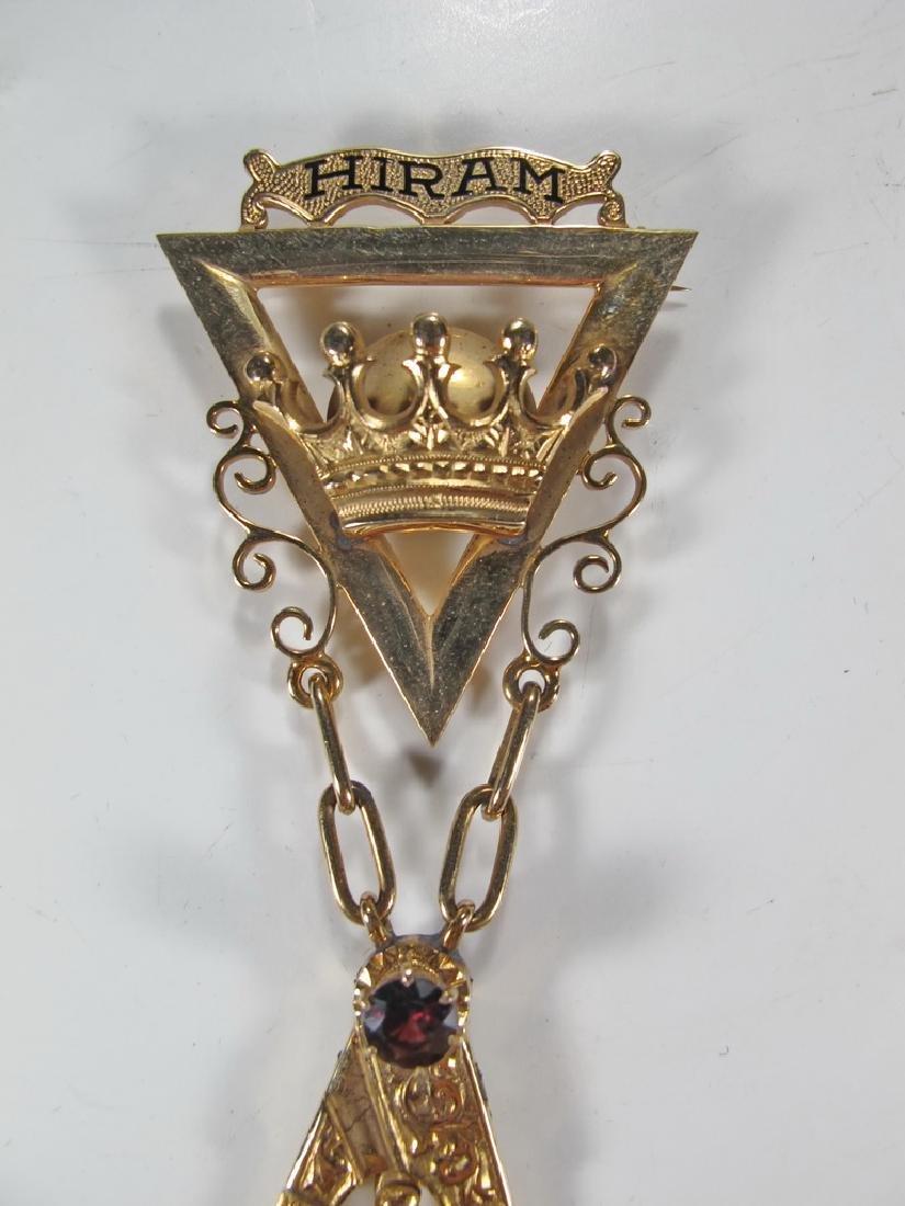 Masonic 14K gold Royal and Select Masters jewel - 2