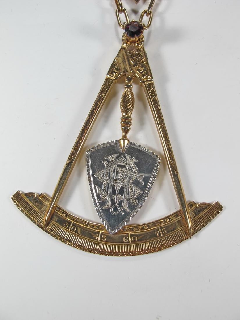 Masonic 14K gold Royal and Select Masters jewel - 3