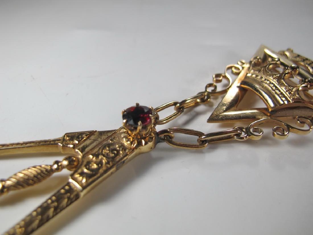 Masonic 14K gold Royal and Select Masters jewel - 4