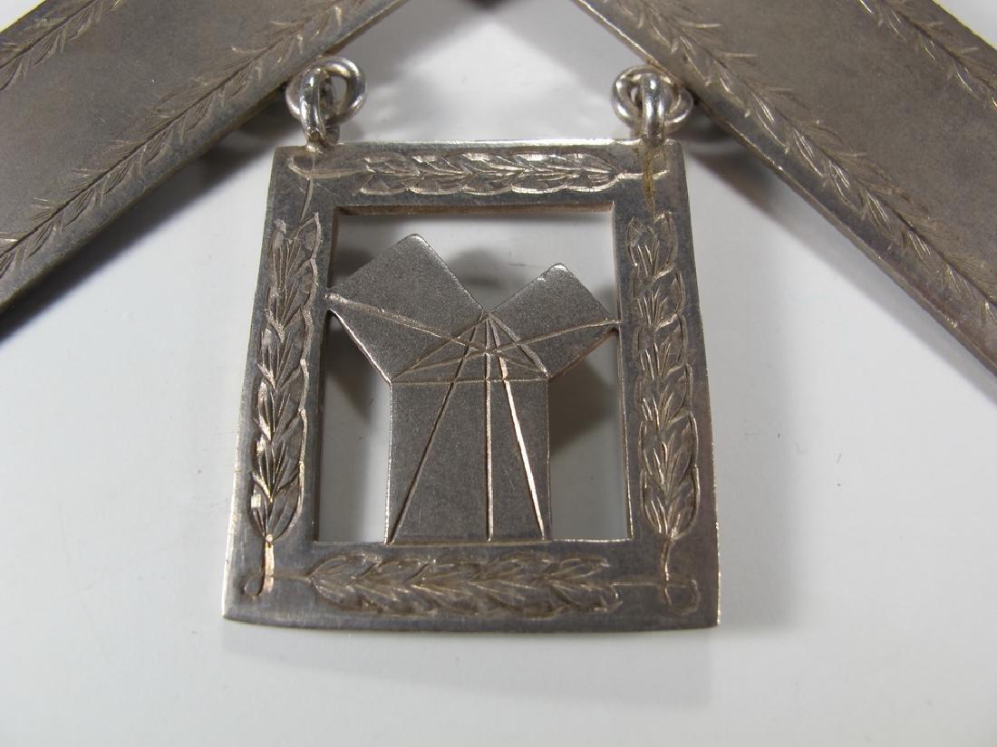G. Kenning & Son Masonic silver plate Past Master jewel - 2