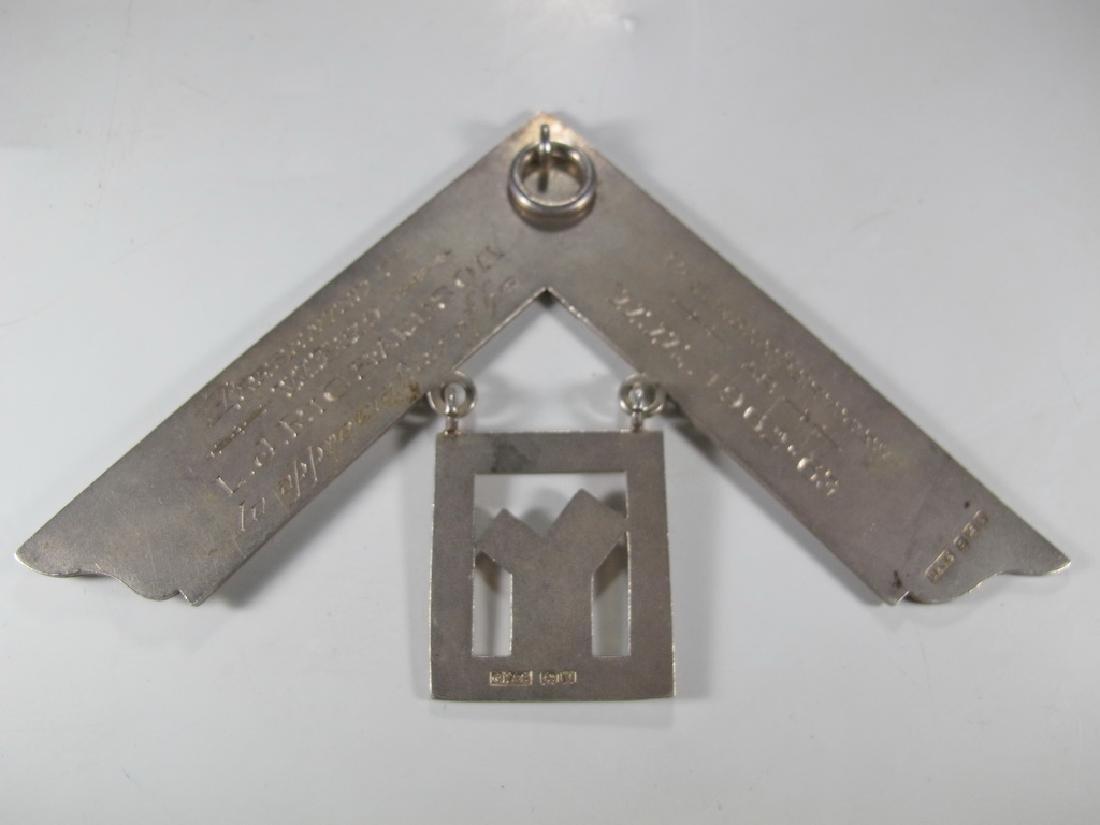 G. Kenning & Son Masonic silver plate Past Master jewel - 3