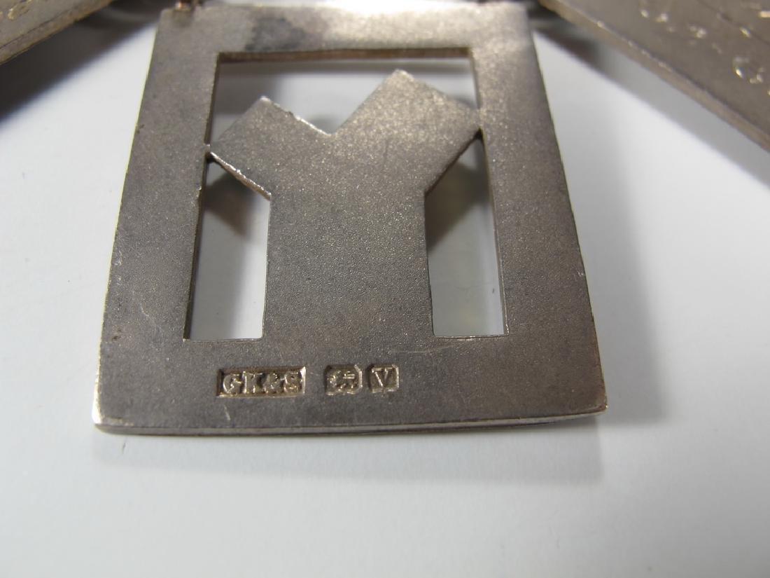 G. Kenning & Son Masonic silver plate Past Master jewel - 4