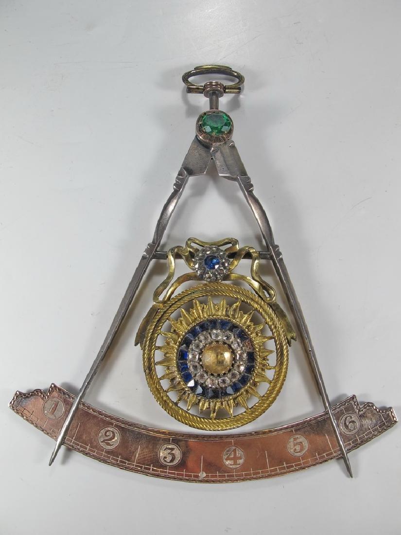 Masonic 90% silver Past Master jewel