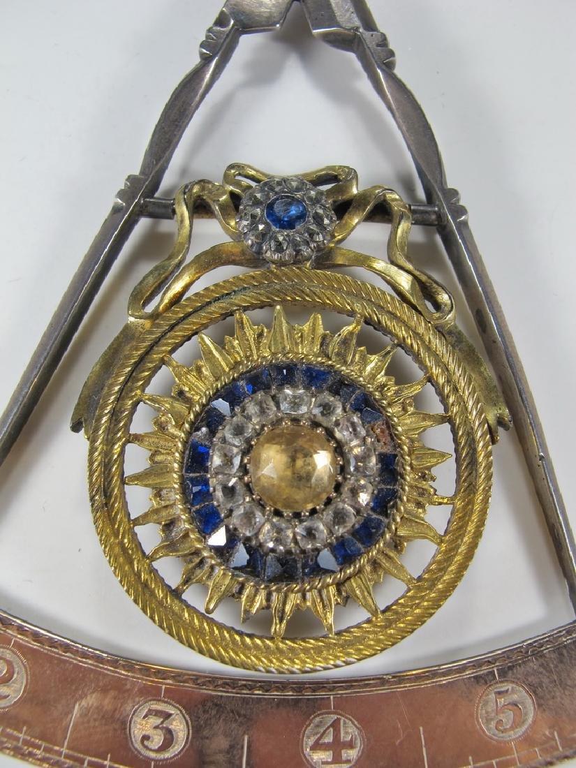 Masonic 90% silver Past Master jewel - 3