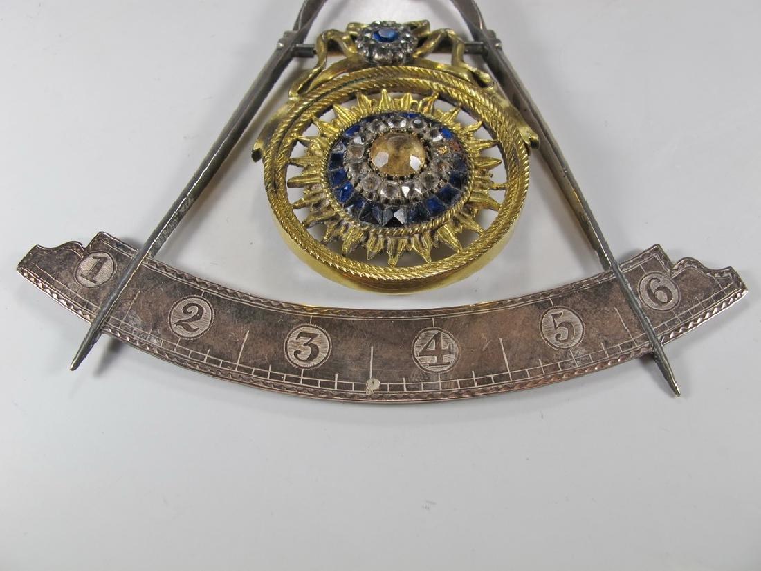 Masonic 90% silver Past Master jewel - 4
