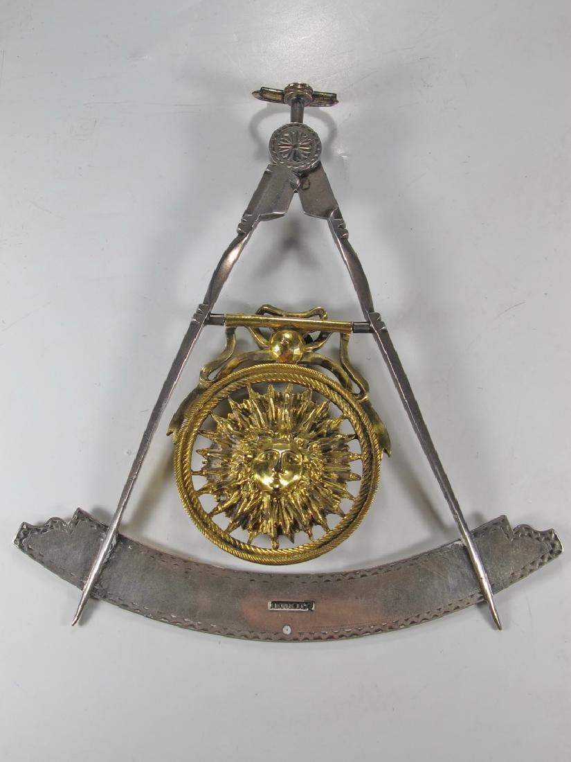 Masonic 90% silver Past Master jewel - 5