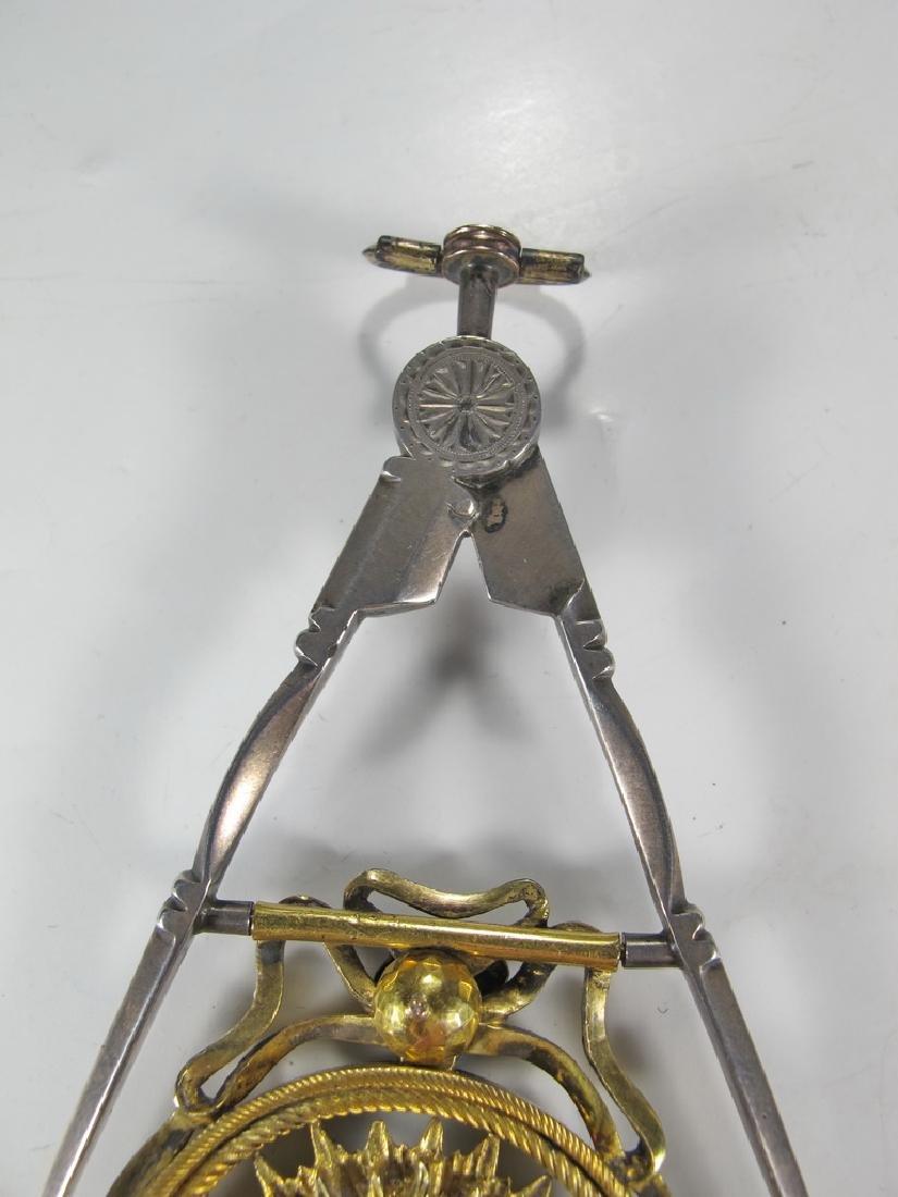 Masonic 90% silver Past Master jewel - 6