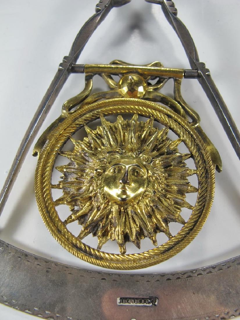 Masonic 90% silver Past Master jewel - 7