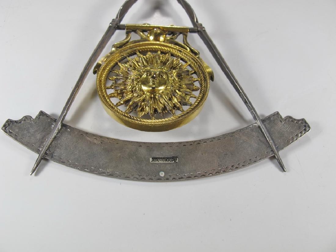 Masonic 90% silver Past Master jewel - 8