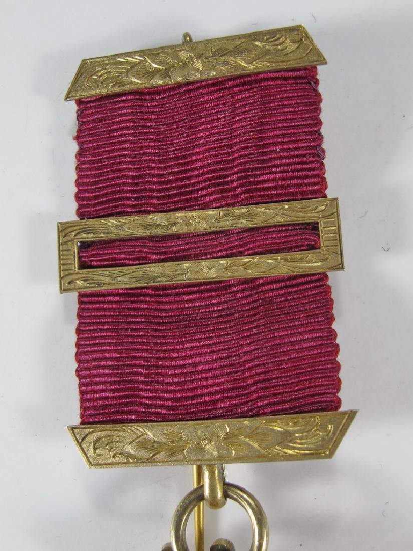 Antique Masonic G. Kenning gold over 800 silver jewel - 2