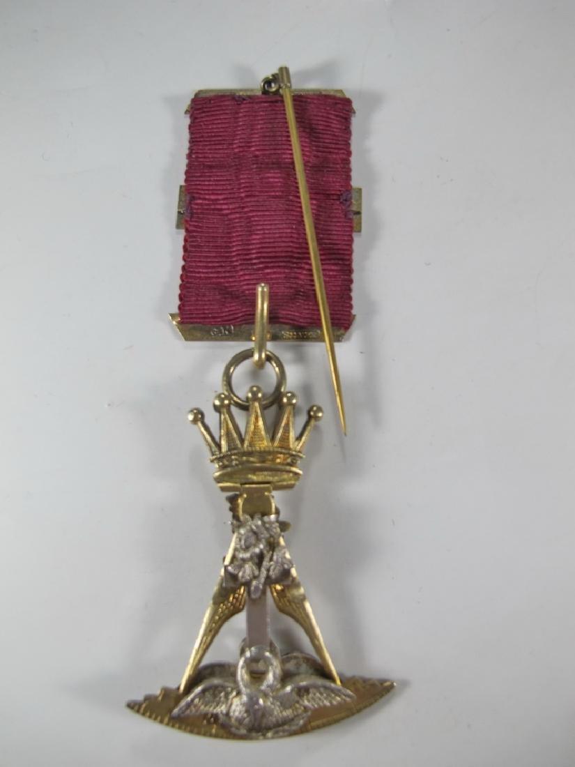 Antique Masonic G. Kenning gold over 800 silver jewel - 5