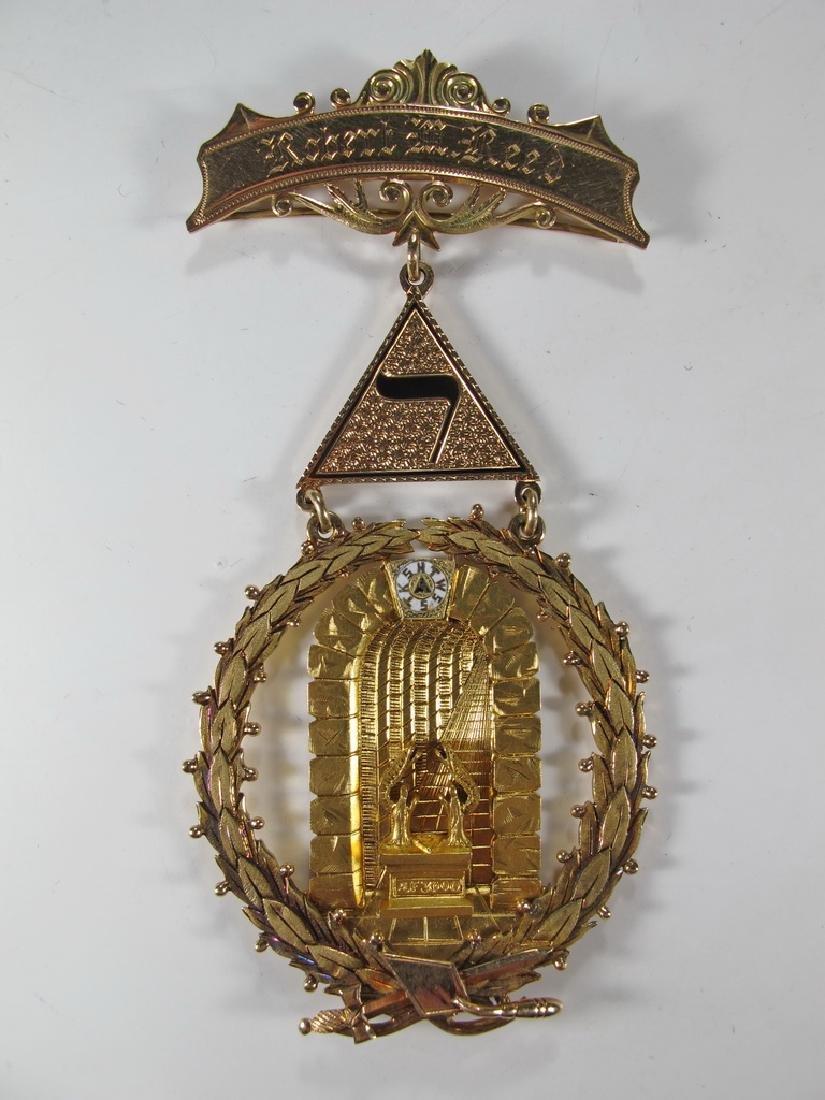 Masonic 14K gold Past Grand Master jewel