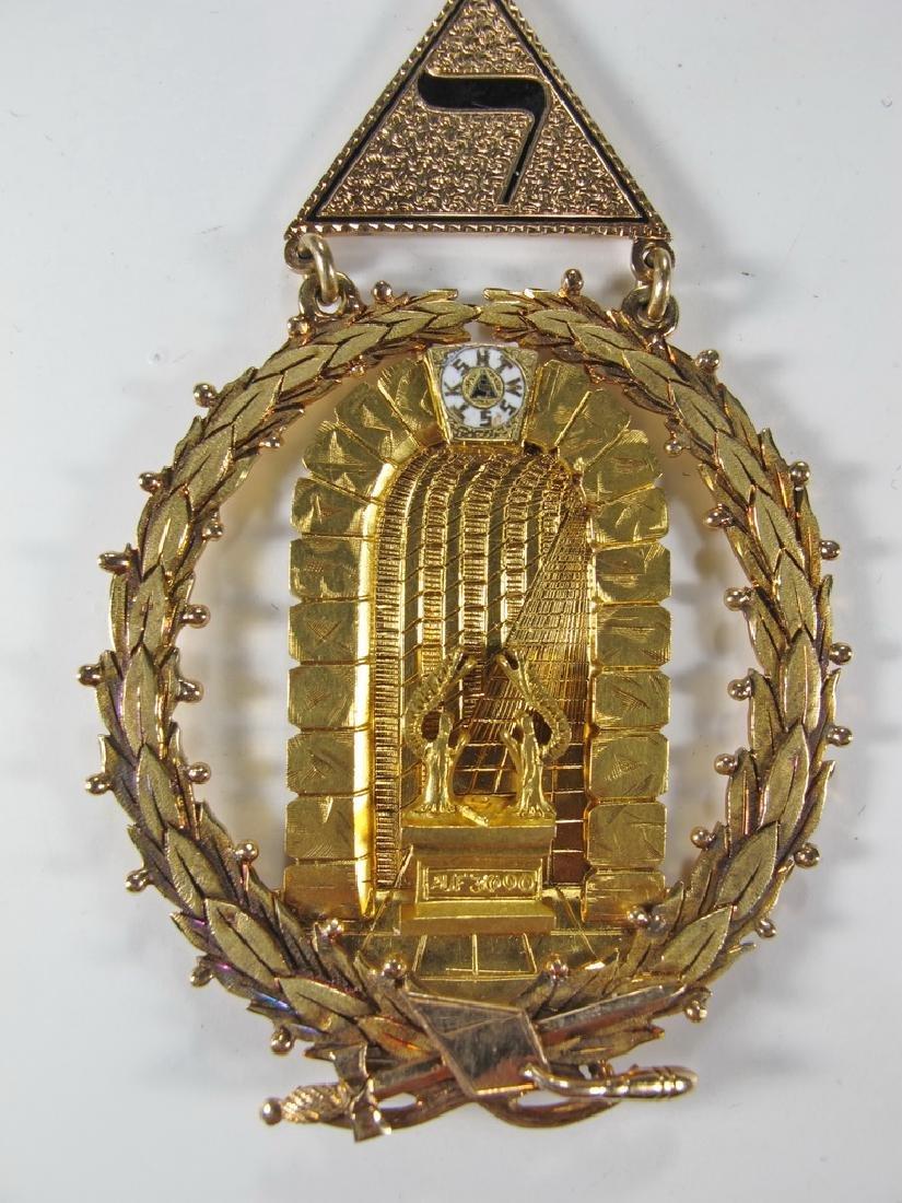 Masonic 14K gold Past Grand Master jewel - 3