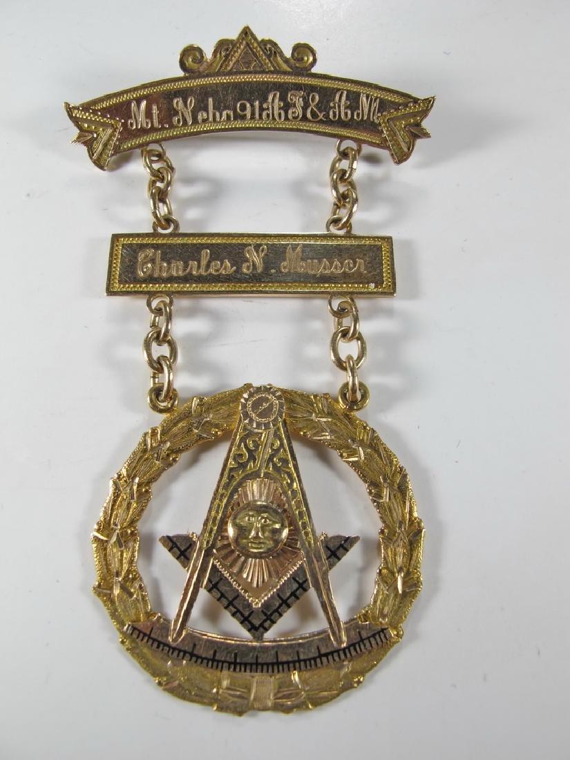 Masonic Stamped 10K gold Past Master jewel