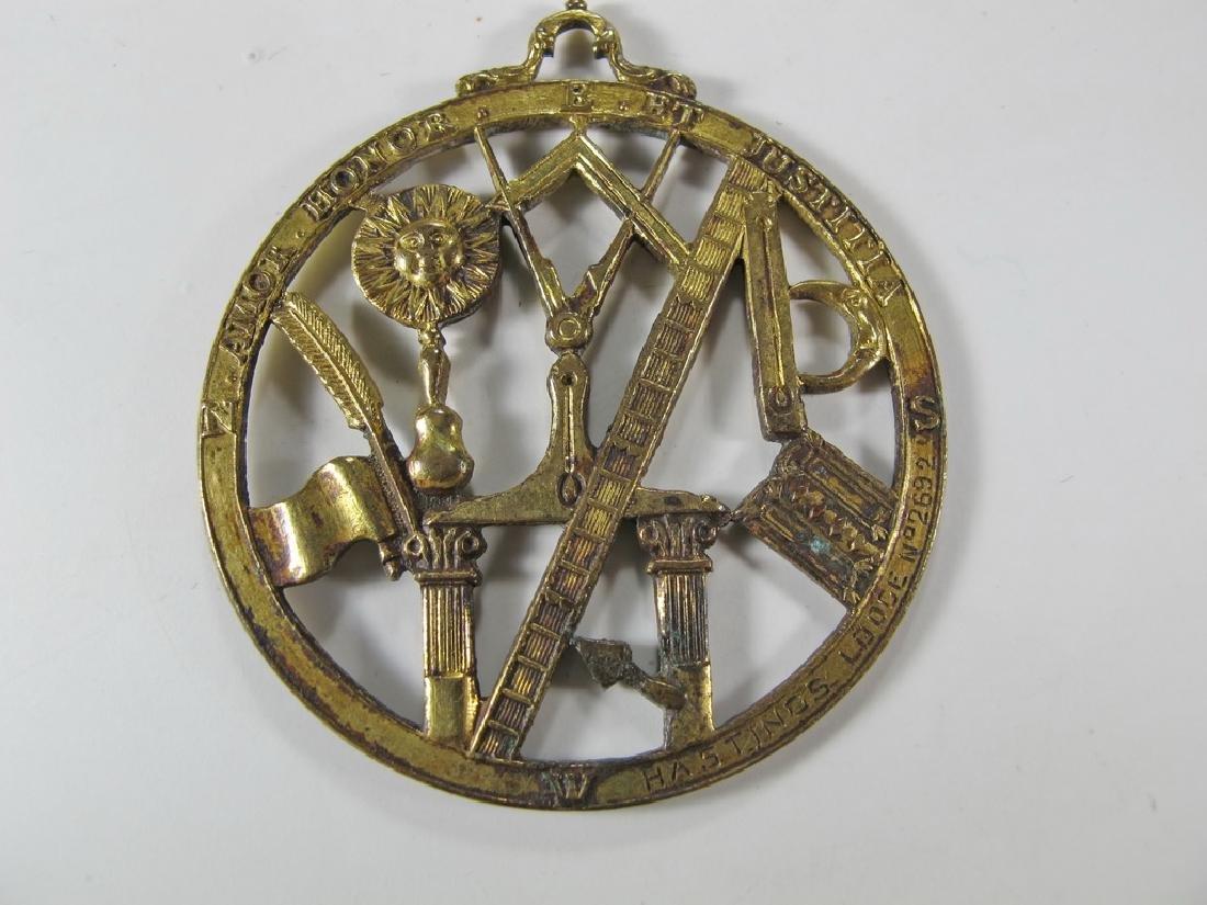 Antique Masonic gold filled Worshipful Master jewel