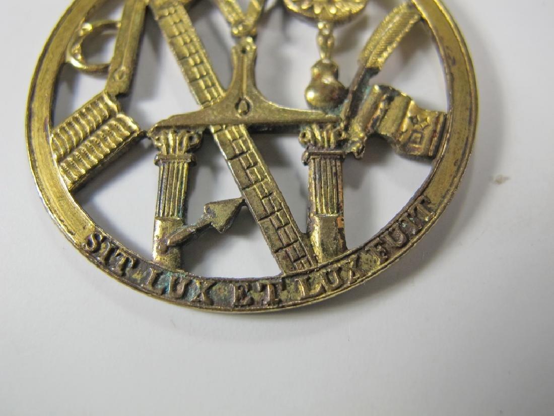 Antique Masonic gold filled Worshipful Master jewel - 5