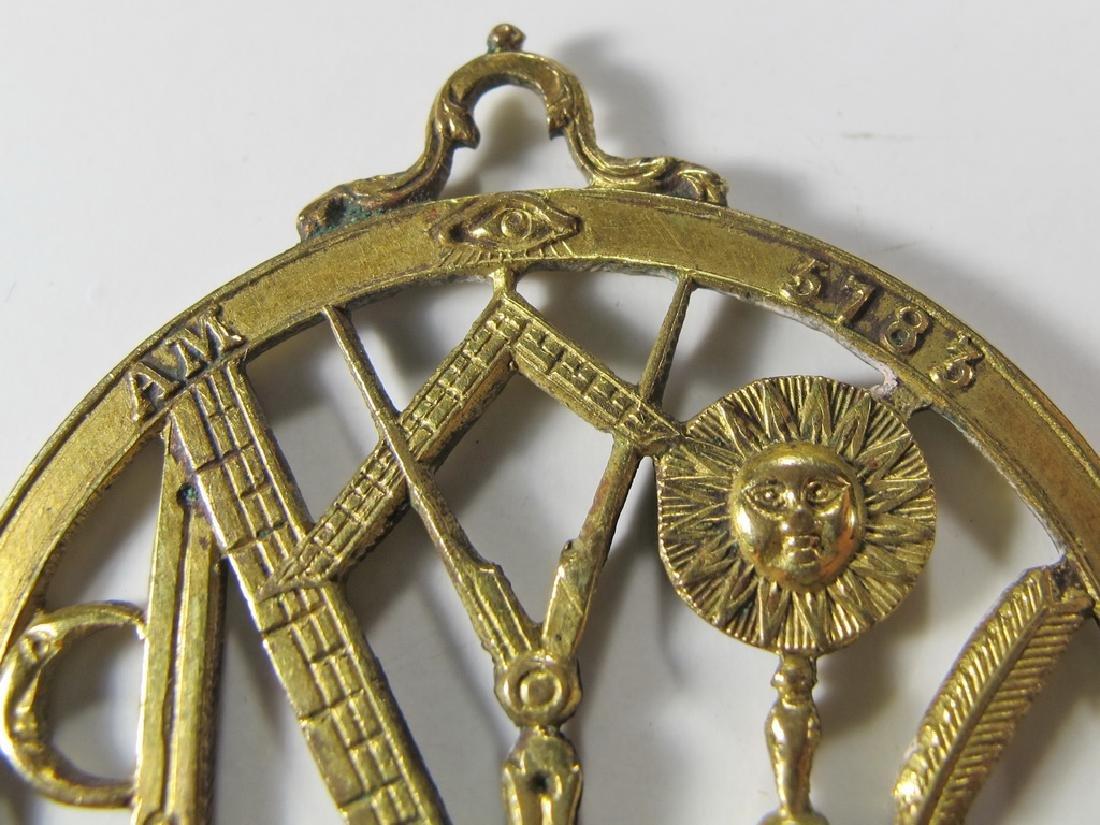 Antique Masonic gold filled Worshipful Master jewel - 6