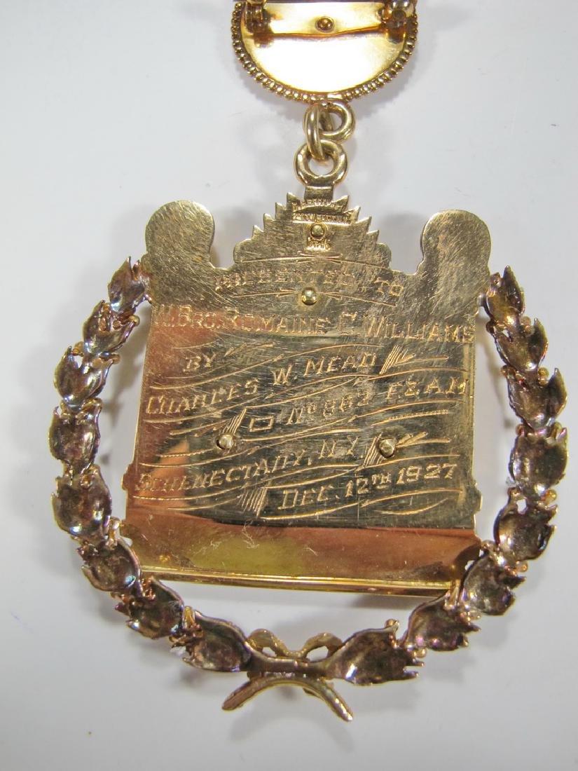 "Masonic 14K gold The Masters Craft ""Wilmshurst†- 5"