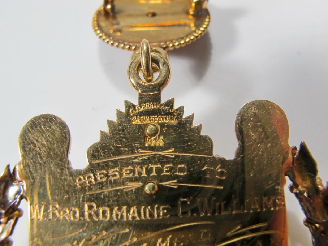 "Masonic 14K gold The Masters Craft ""Wilmshurst†- 6"