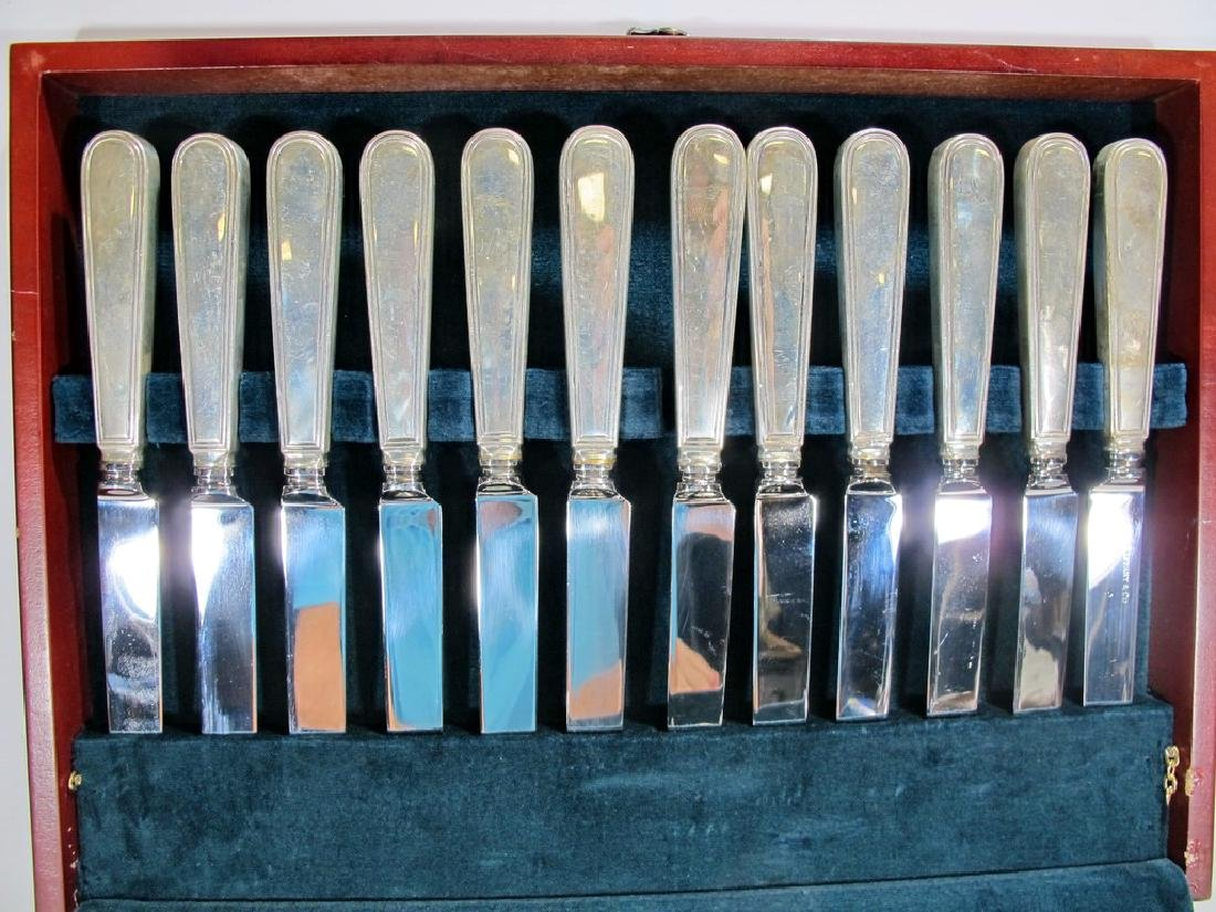 Tiffany & Co antique sterling 113 pcs flatware - 2