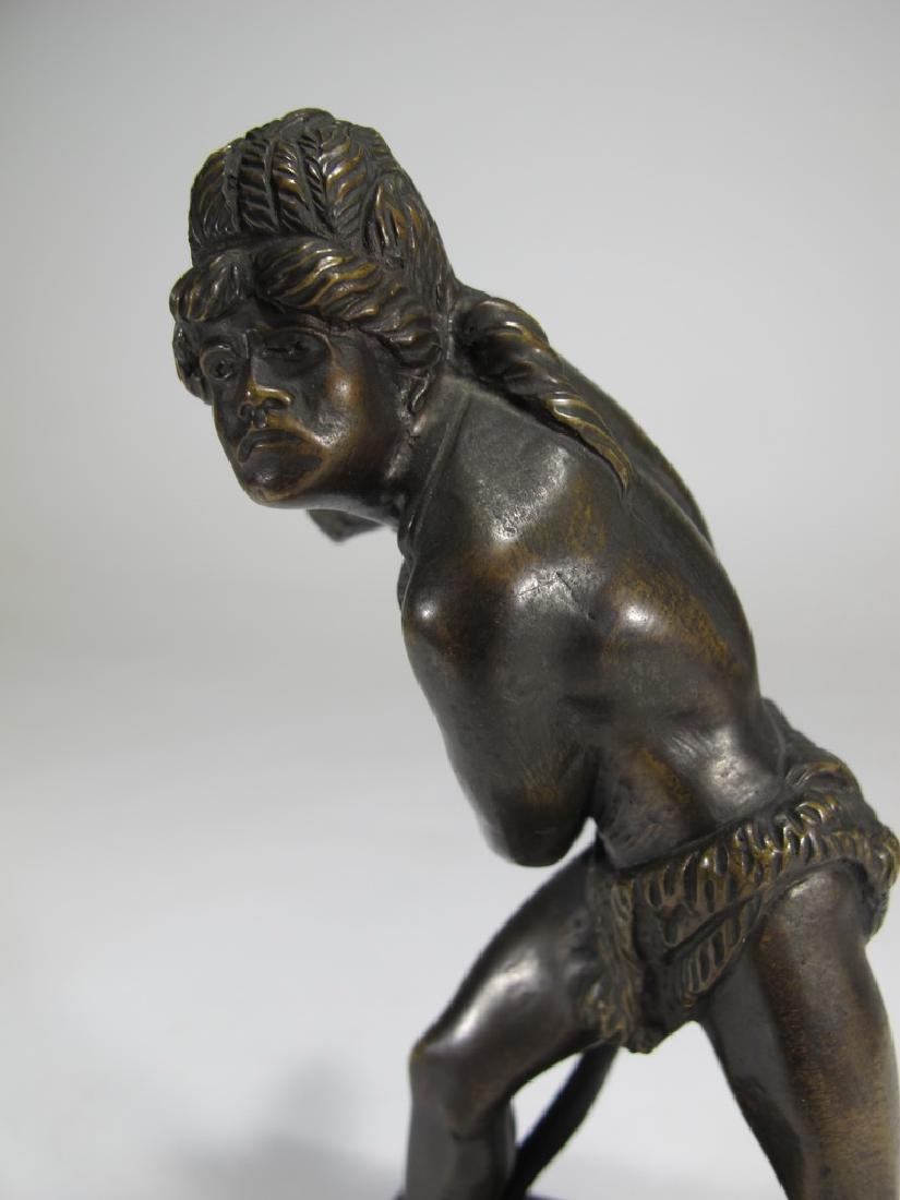 Antique European bronze Indian sculpture - 5