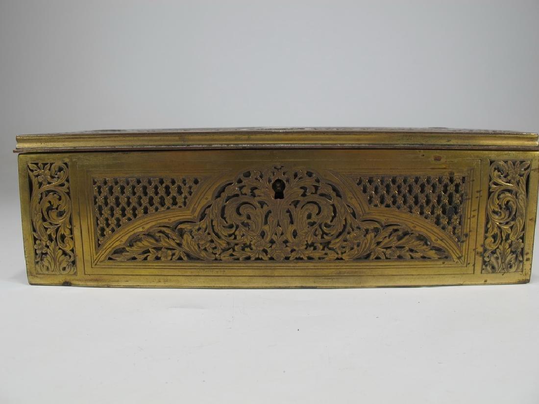 Amazing Antique European bronze jewelry box - 2