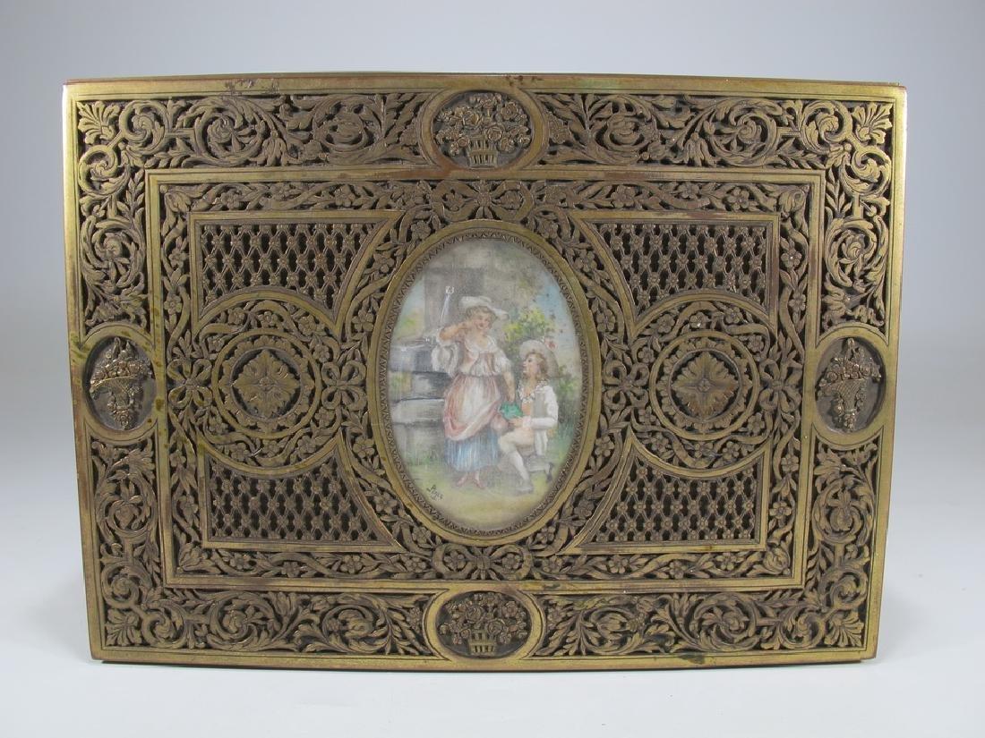 Amazing Antique European bronze jewelry box - 3
