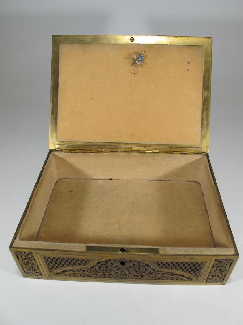 Amazing Antique European bronze jewelry box - 6