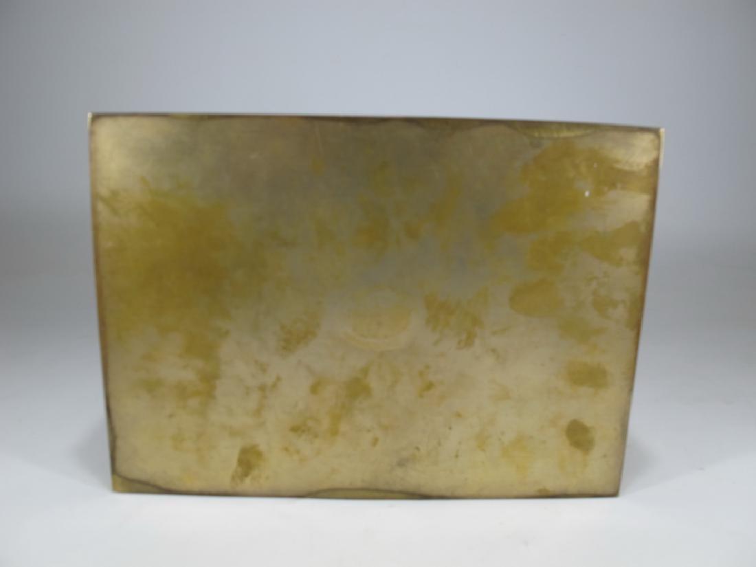Amazing Antique European bronze jewelry box - 7