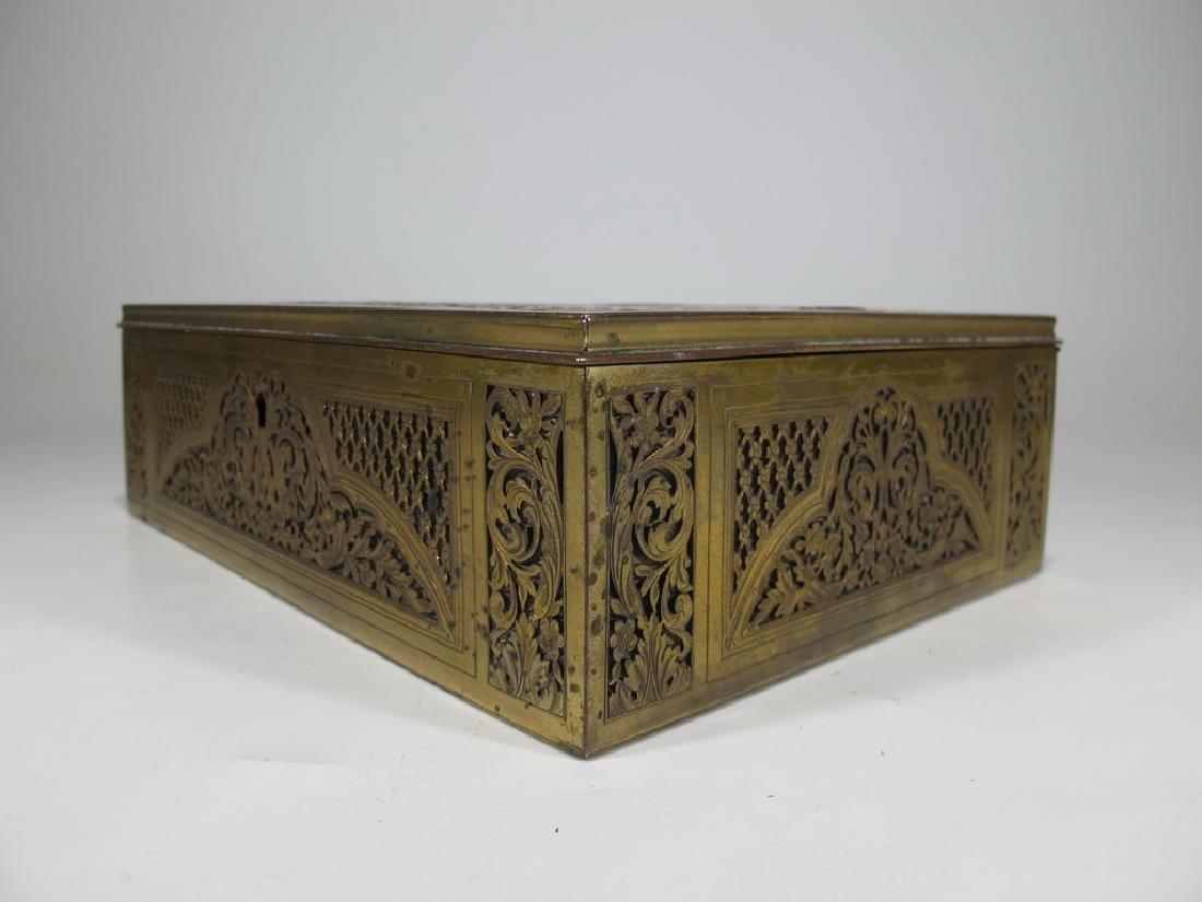Amazing Antique European bronze jewelry box - 8