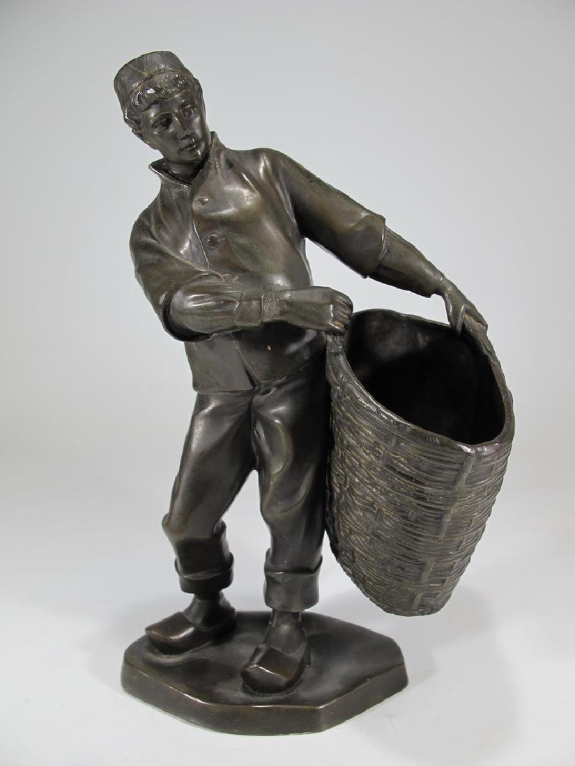 Antique European spelter sculpture, marked Emyg