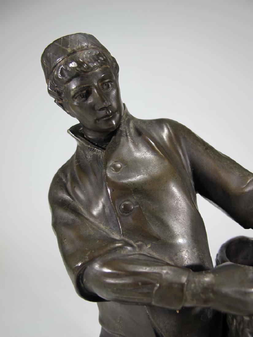 Antique European spelter sculpture, marked Emyg - 2