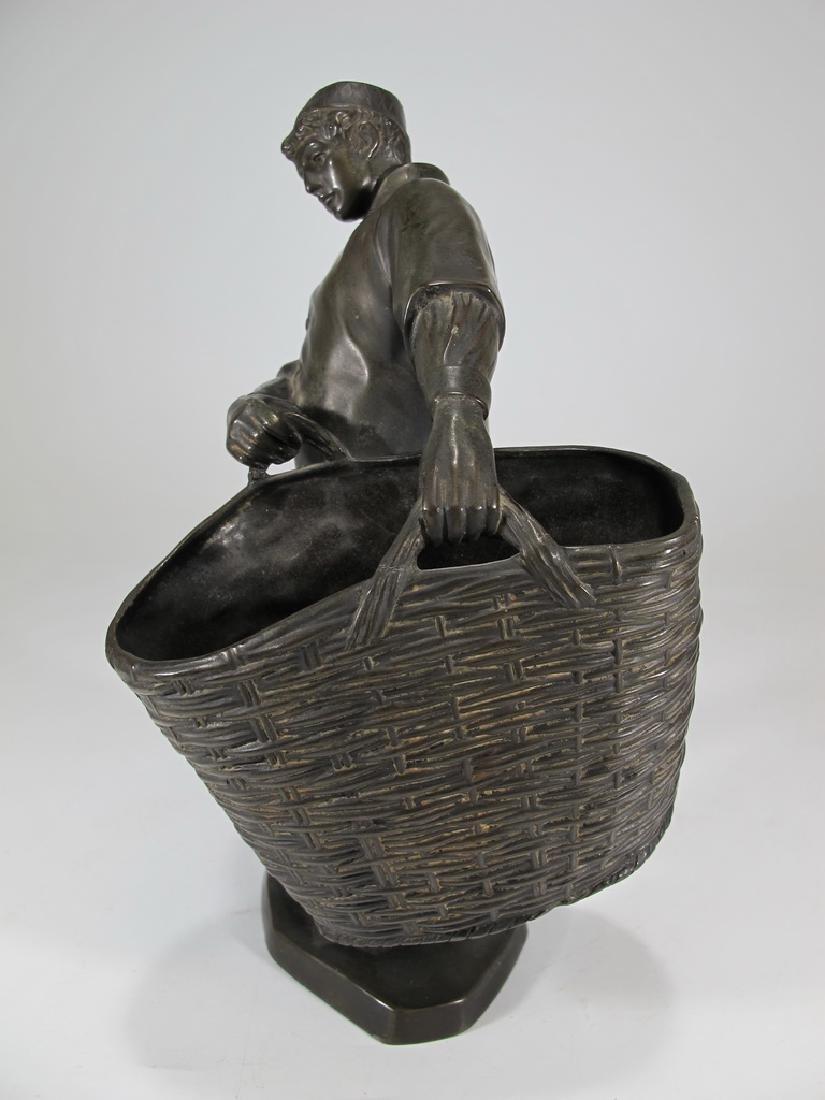 Antique European spelter sculpture, marked Emyg - 3