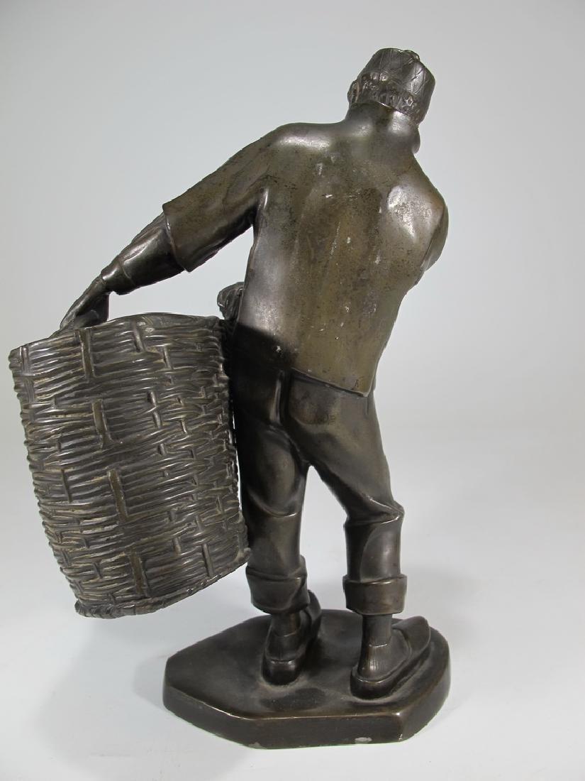Antique European spelter sculpture, marked Emyg - 4