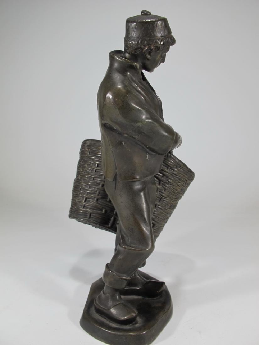 Antique European spelter sculpture, marked Emyg - 5